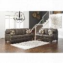 Ashley Kannerdy 2 Piece Sofa Set in Quarry