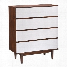 Zuo LA High Chest in Walnut and White