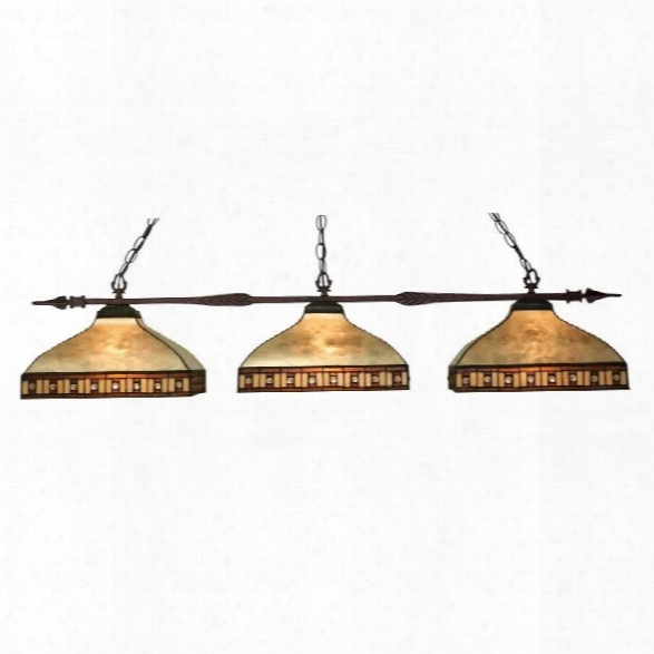 Z-lite Aztec 3 Light Island Billiard Daybreak In Bronze