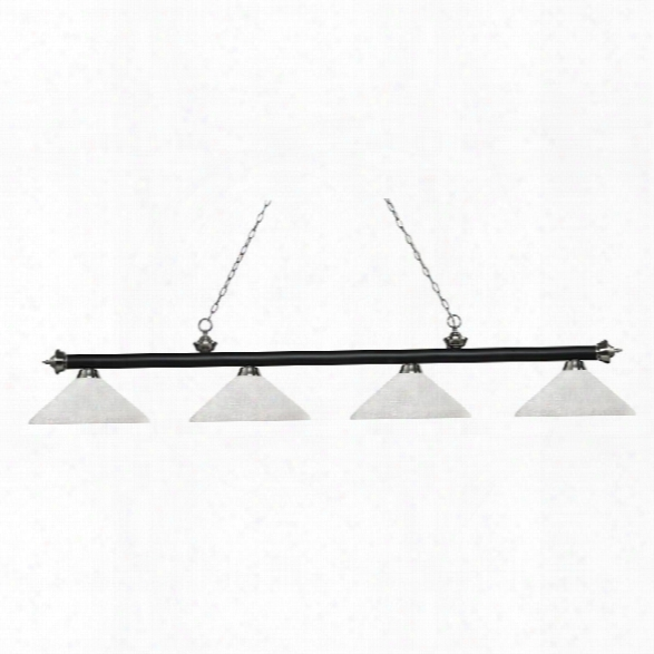 Z-lite Riviera 4 Light Game Table Light In White Linen