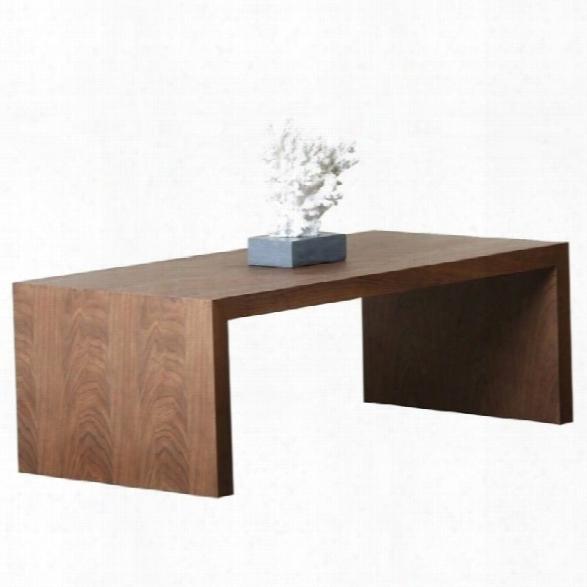 Abbyson Living Quincy Wood Coffee Table In Oak