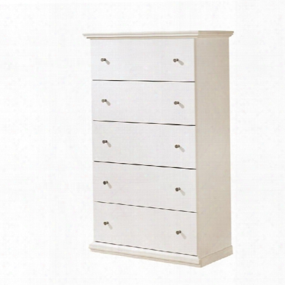 Ashley Bostwick Shoals 5 Drawer Wood Chest In White