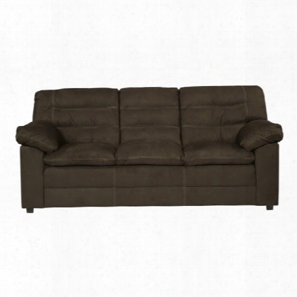 Ashley Talut Faux Leather Sofa In Cafe