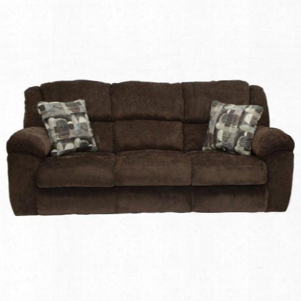 Catnapper Transformer Fabric Reclining Sofa In Chocolate