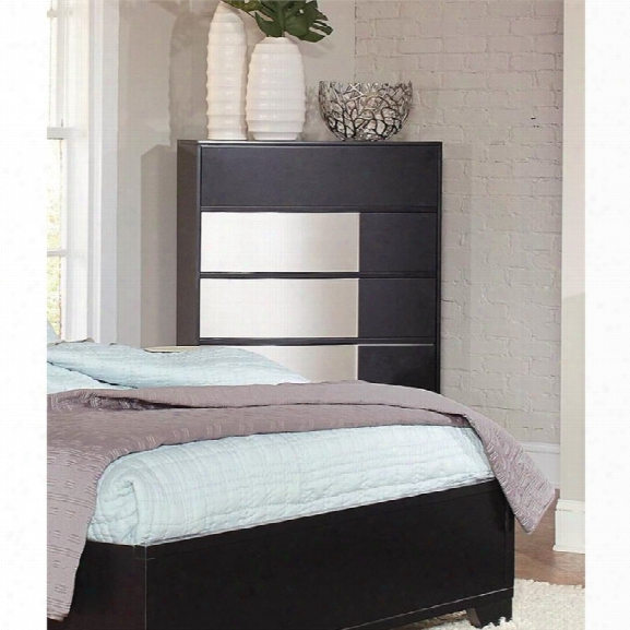 Coaster Havering Dovetail Drawer Chest In Black And Sterling