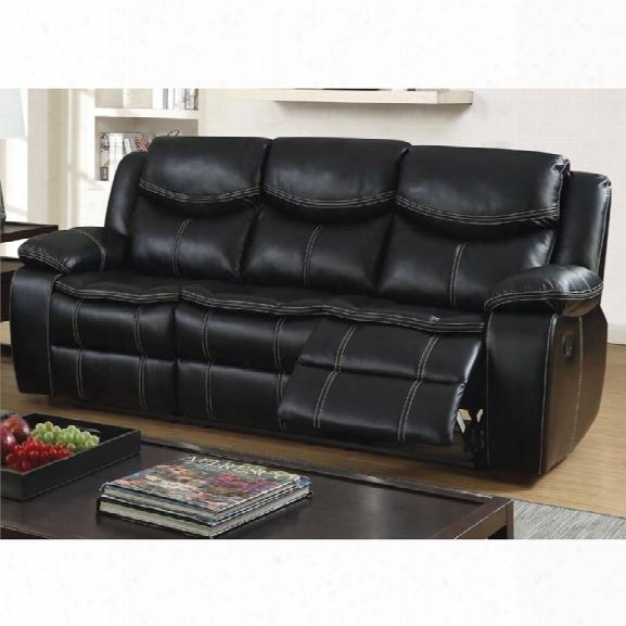 Furniture Of America Monica Reclining Sofa In Black