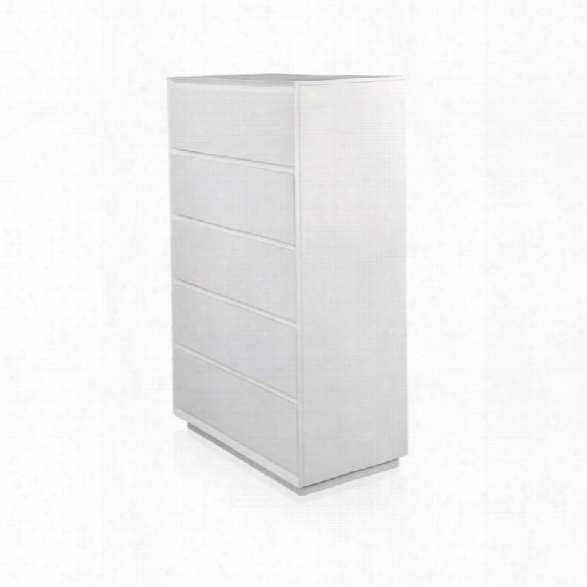 Furniture Of America Warther Linear 5 Drawer Chest In White