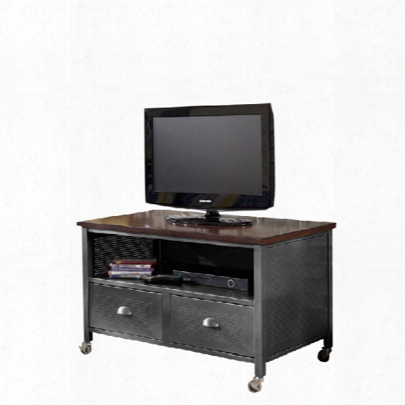 Hillsdale Urban Quarters 2 Drawer Media Chest In Black Steel