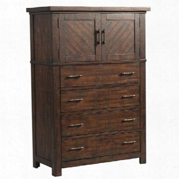 Picket House Furnishings Dex 5 Drawer Chest In Walnut