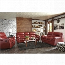 Ashley Tassler DuraBlend 3 Piece Sofa Set in Crimson