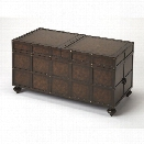 Butler Specialty Heritage Trunk Coffee Table in Dark Brown