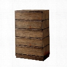 Furniture of America Benjy 5 Drawer Chest in Rustic Natural
