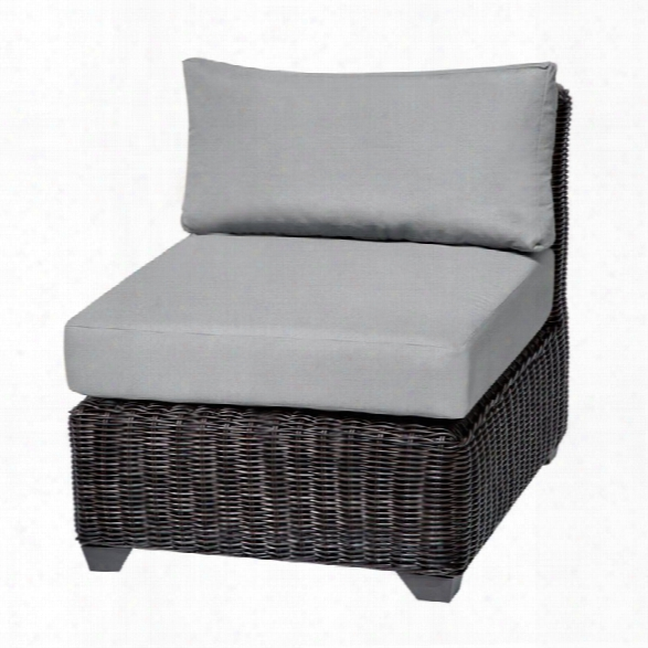 Tkc Venice Armless Patio Chair In Gray (set Of 2)