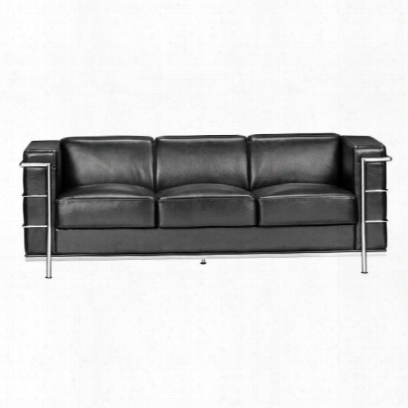 Zuo Fortress Sofa In Black