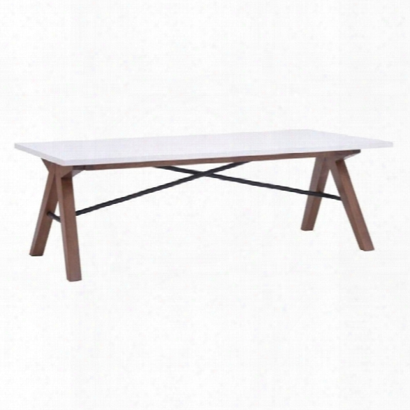 Zuo Saints Coffee Table In Walnut And White