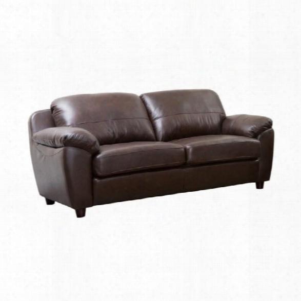 Abbyson Living Bella Leather Sofa In Brown