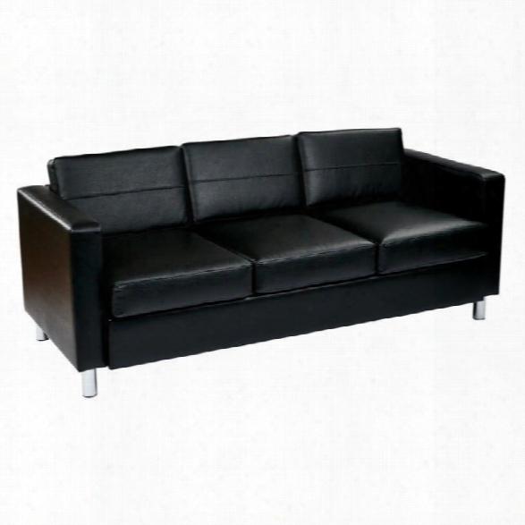Avenue Six Pacific Sofa In Black