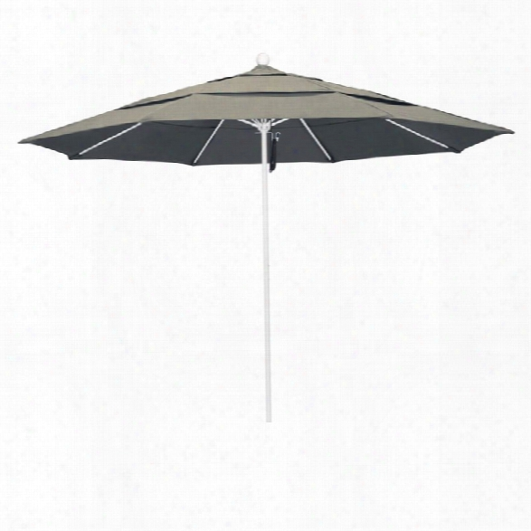 California Umbrella Venture 11' White Market Umbrella In Dove