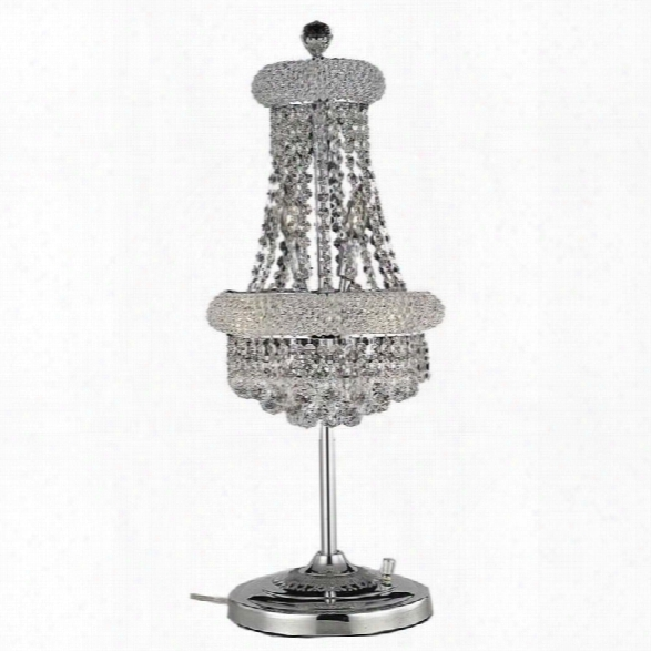 Elegant Lighting Primo 26 6 Light Elements Crystal Table Lamp