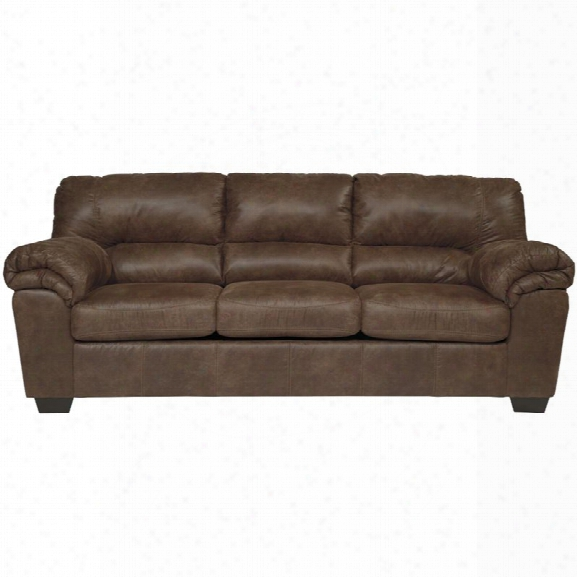 Flash Furniture Bladen Faux Leather Sofa In Coffee