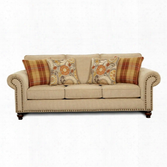 Furniture Of America Tayden Fabric Sofa In Tan