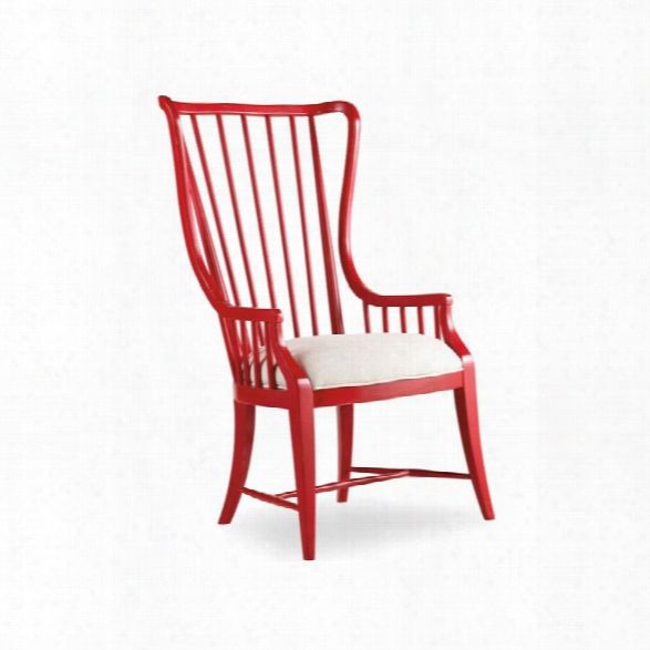 Hooker Furniture Sanctuary Tall Spindle Dining Arm Chair In Red