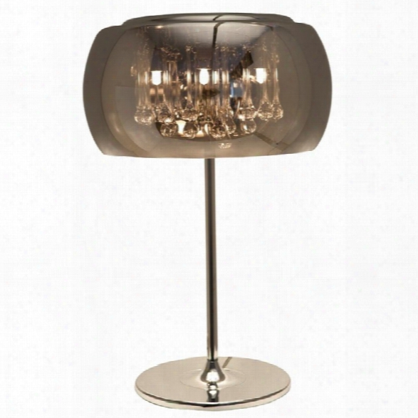 Nuevo Alain 4 Light Table Lamp In Silver