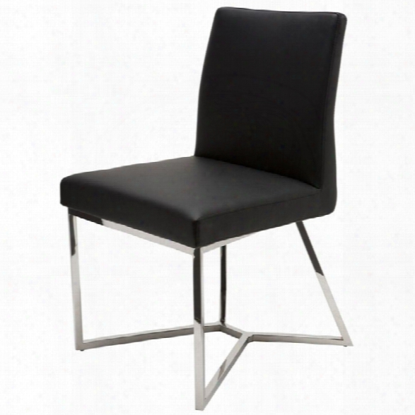 Nuevo Patrice Faux Leather Dining Side Chair In Black