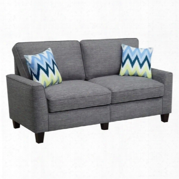 Serta Rta Astoria Collection 78 Sofa In Winter River Gray