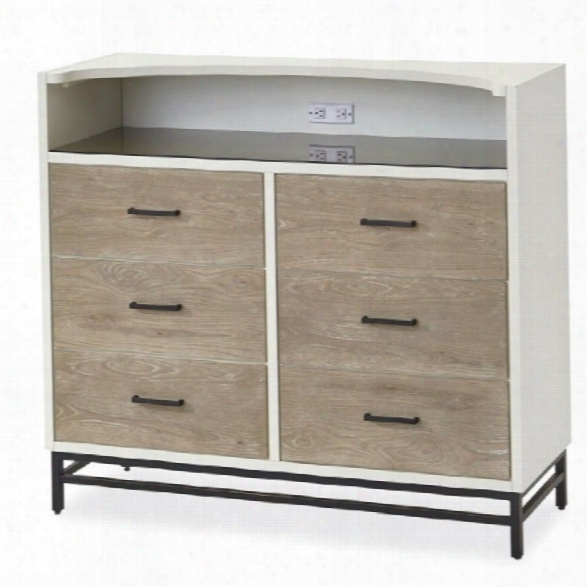 Smartstuff Myroom 6 Drawer Chest In Parchment And Elm