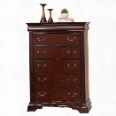 Abbyson Living Sabrely 5 Drawer Chest in Brown