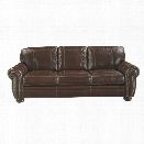 Ashley Banner Leather Sofa in Coffee