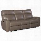 Hooker Furniture Mowry Leather Power Motion Sofa in Gray