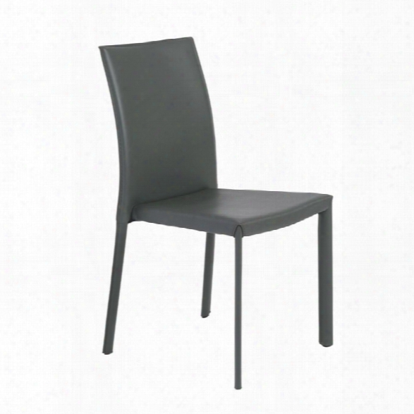 Eurostyle Hasina Stacking Side Chair In Gray (set Of 4)