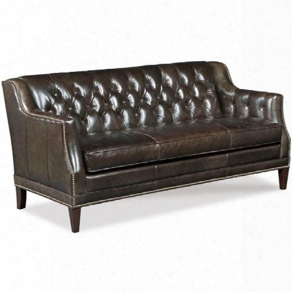Hooker Furniture Balmoral Blair Stationary Sofa In Brown