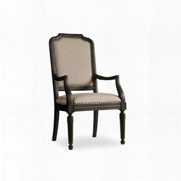 Hooker Furniture Corsica Upholstered Side Chair In Dark Wood
