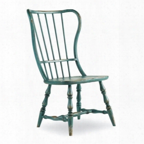 Hooker Furniture Sanctuary Spindle Dining Chair In Blue