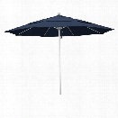 California Umbrella Venture 11' Silver Market Umbrella in Indigo