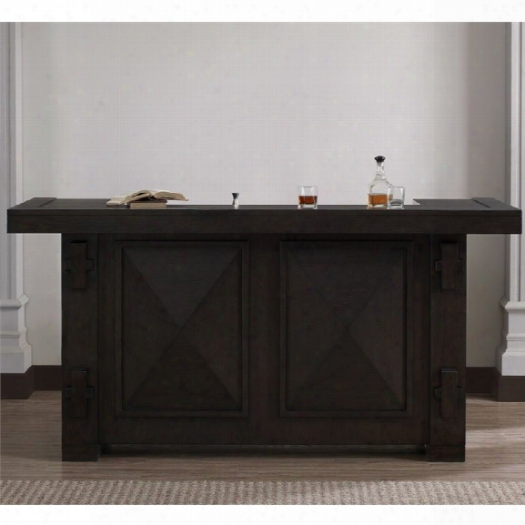 American Heritage Homestead Home Bar In Chocolate