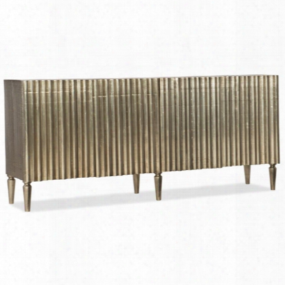 Hooker Furniture German Accent Console Table In Silver Foil