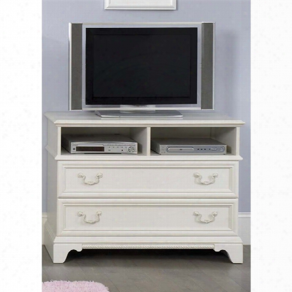 Liberty Furniture Arielle 2 Drawer Media Chest In Antique White