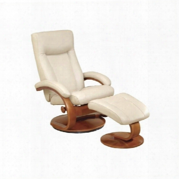 Mac Motion Oslo Ldather Swivel Recliner In Cobblestone Walnut