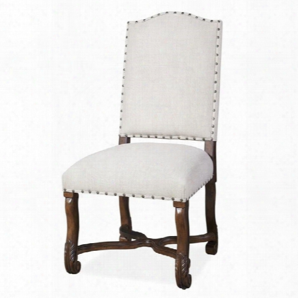 Paula Deen Home Dogwood Upholstered Dining Side Chair In Low Tide