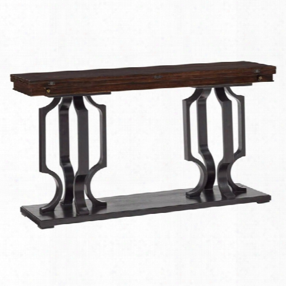 Stanley Furniture Virage Flip Top Console Table In Truffle