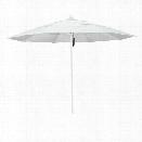 California Umbrella Venture 11' White Market Umbrella in Natural