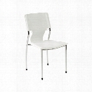 Eurostyle Terry Stacking Side Chair in White Leatherette (Set of 4)