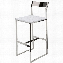 Nuevo Camille 26.5 Leather Counter Stool in White