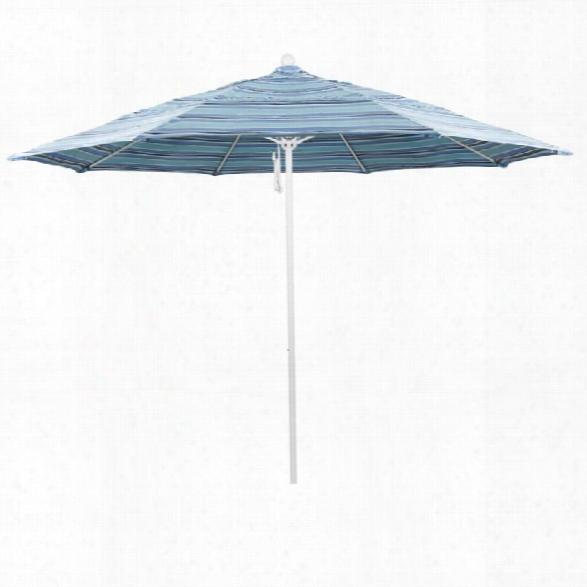 California Umbrella Venture 11' White Market Umbrella In Dolce Oasis