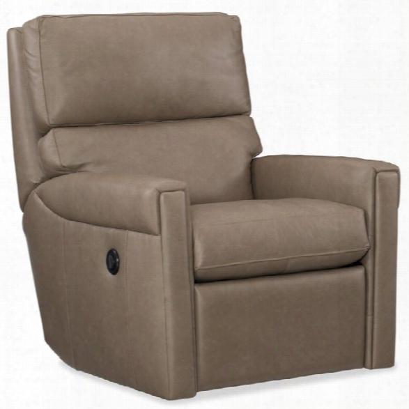 Hooker Furniture Lyrica Leather Power Swivel Recliner In Dust
