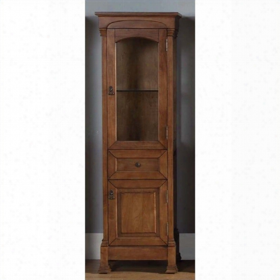 James Martin Brookfield Linen Cabinet In Country Oak